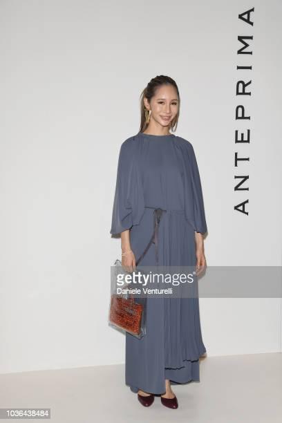 Kiko Matsuyama is seen backstage ahead of the Anteprima show during Milan Fashion Week SS 2019 on September 20 2018 in Milan Italy