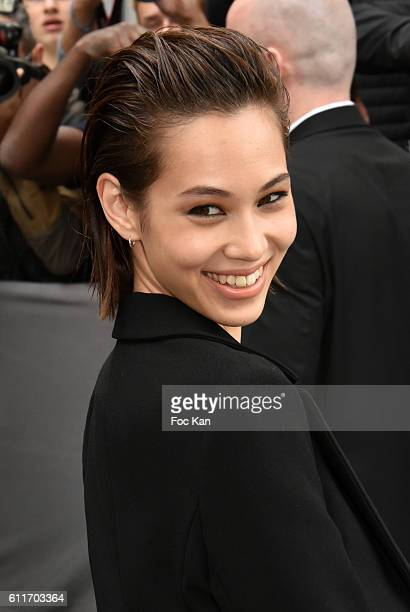 Kiko Mizuhara attends the Christian Dior show as part of the Paris Fashion Week Womenswear Spring/Summer 2017on September 30 2016 in Paris France