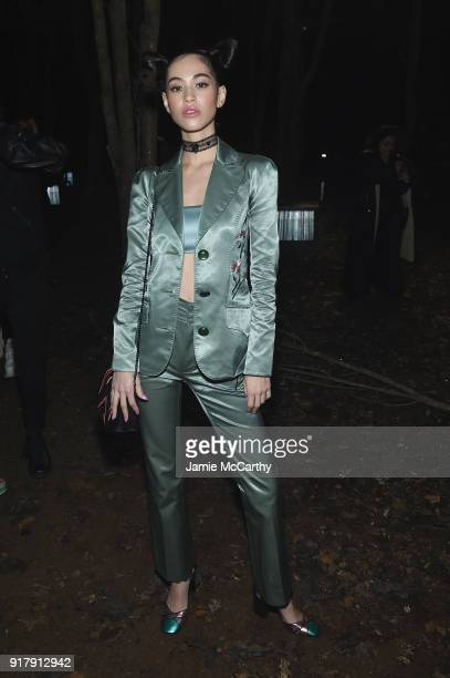 Kiko Mizuhara attends the Coach 1941 front row during New York Fashion Week at Basketball City on February 13 2018 in New York City