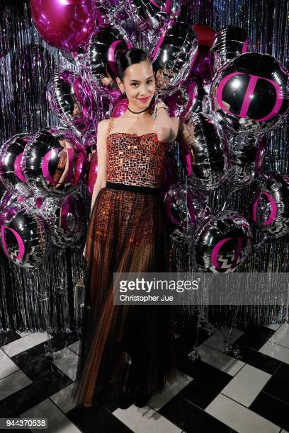 Kiko Mizuhara attends the Dior Addict Lacquer Plump Party at 1 OAK on April 10 2018 in Tokyo Japan