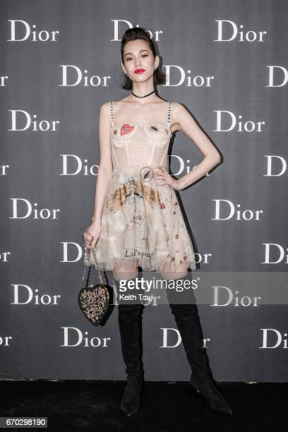 Kiko Mizuhara attends the Dior Homme 2017 Fall Presentation at Differ Ariake on April 19 2017 in Tokyo Japan