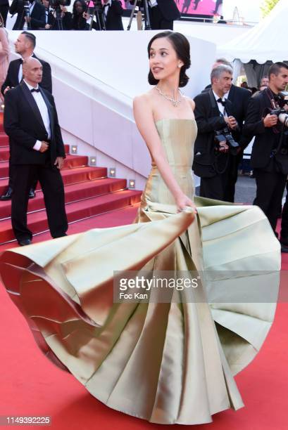 Kiko Mizuhara attends the screening of Les Miserables during the 72nd annual Cannes Film Festival on May 15 2019 in Cannes France