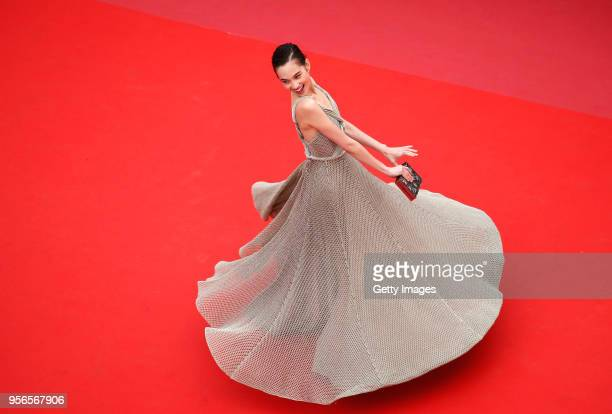 Kiko Mizuhara attends the screening of Yomeddine during the 71st annual Cannes Film Festival at Palais des Festivals on May 9 2018 in Cannes France