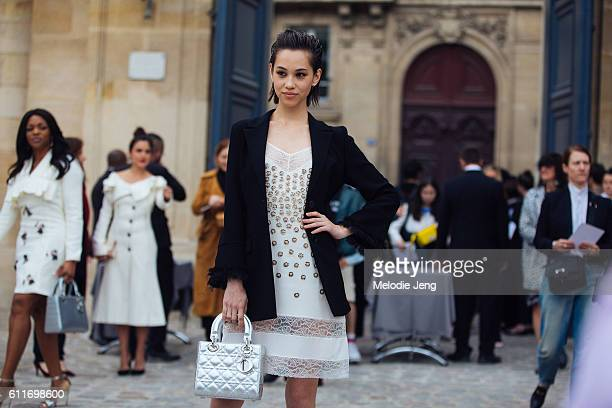 Kiko Mizuhara outside the Dior show at Musee Rodin on September 30 2016 in Paris France