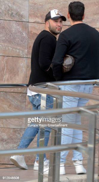 Kiko Rivera visits Irene Rosales at hospital after giving birth to Carlota Rivera on January 30 2018 in Seville Spain
