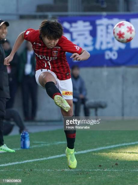 Kiko Seike of Urawa Red Diamonds Ladies in action during the Empress's Cup JFA 41st Japan Women's Football Championship final between Nippon TV...