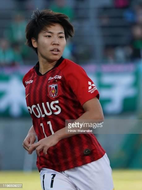 Kiko Seike of Urawa Red Diamonds Ladies looks on during the Empress's Cup JFA 41st Japan Women's Football Championship final between Nippon TV Beleza...