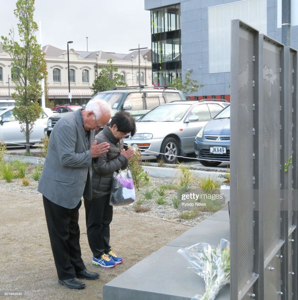 Families of quake victims open memorial garden in NZ's Christchurch : News Photo