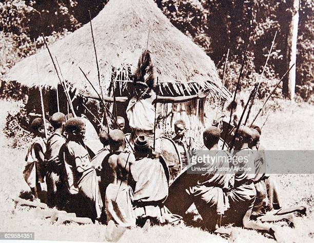 Kikuyu tribesmen gather to prepare for hunting Kenya Africa 1920 The Kikuyu are the largest ethnic group in Kenya