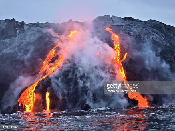 kilauea lava flow - lava stock photos and pictures