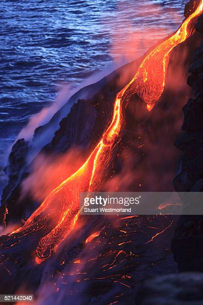 kilauea lava flow - kalapana stock pictures, royalty-free photos & images