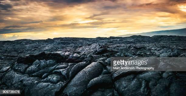 kilauea lava flow #3 - extremlandschaft stock-fotos und bilder