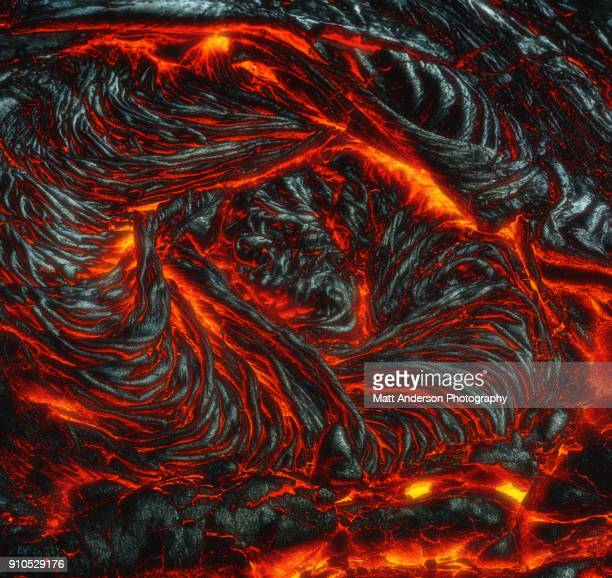 kilauea lava flow #4 - lava stock pictures, royalty-free photos & images