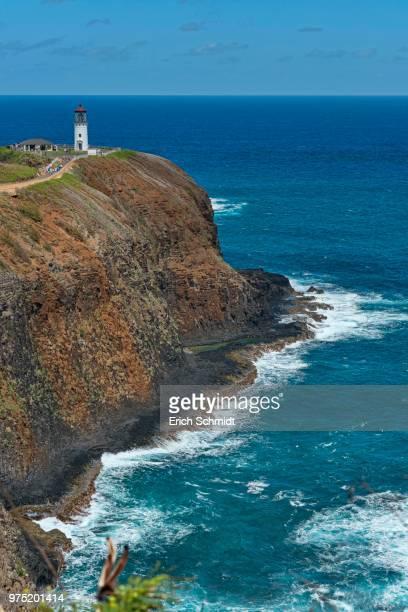kilauea lighthouse, kauai, hawaii, usa - hawaii inselgruppe stock-fotos und bilder