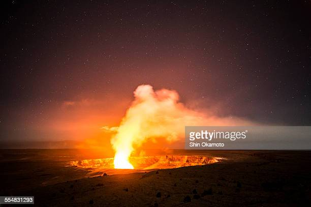 kilauea volcano and caldera - キラウエア火山 ストックフォトと画像