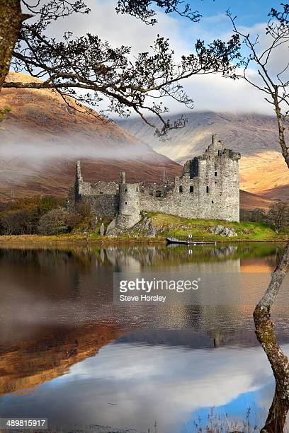 Kilchurn Castle on a misty morning, Loch Awe, Argyll and Bute, Scottish Highlands, Scotland