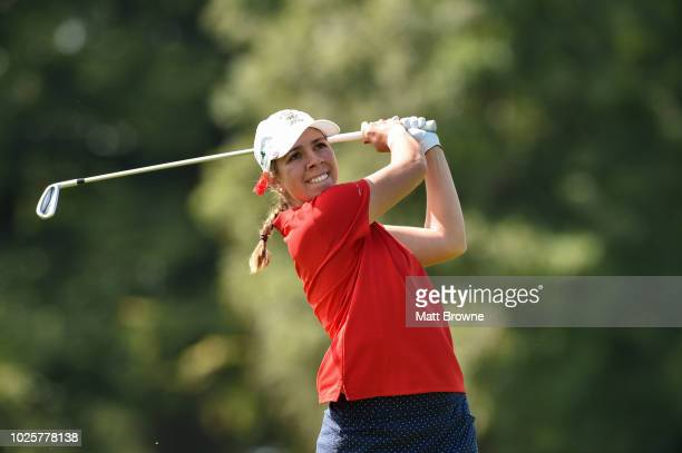 Kildare Ireland 1 September 2018 Kristen Gillman of USA watches her tee shot from the 2nd during the 2018 World Amateur Team Golf Championships at...
