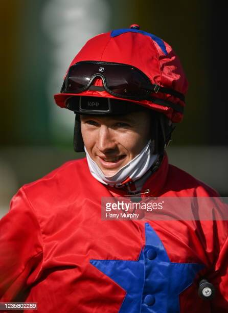Kildare , Ireland - 10 October 2021; Colin Keane after riding Pretty Boy Floyd to win the Duralock Racecourse Fencing Handicap at The Curragh...
