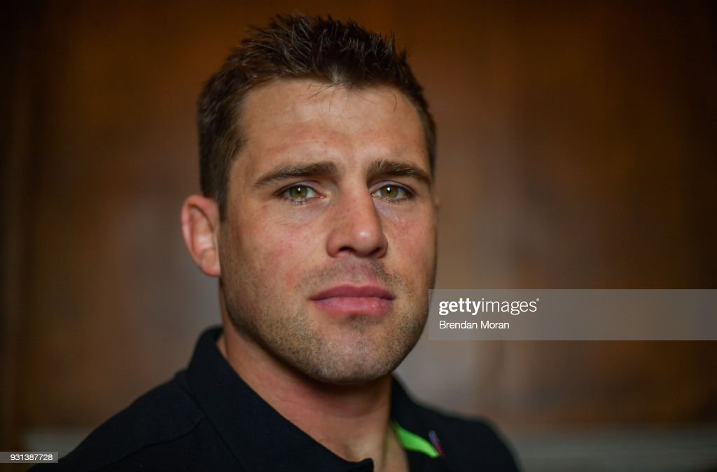 Kildare , Ireland - 13 March 2018; CJ Stander poses for a portrait after an Ireland rugby press conference at Carton House in Maynooth, Co Kildare.