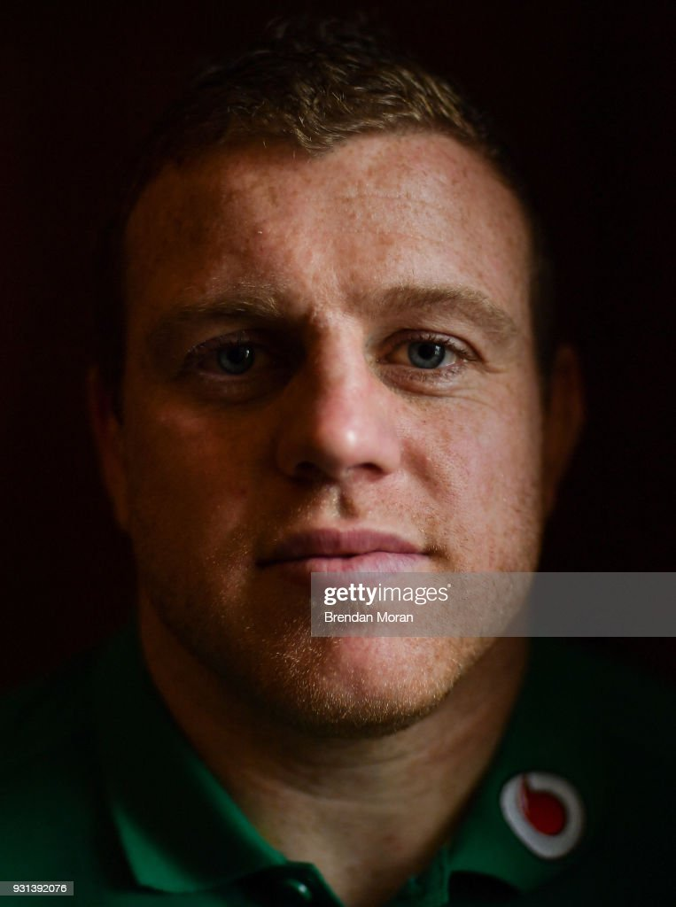 Kildare , Ireland - 13 March 2018; Sean Cronin poses for a portrait after an Ireland rugby press conference at Carton House in Maynooth, Co Kildare.