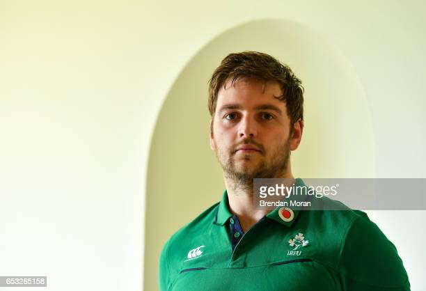 Kildare Ireland 14 March 2017 Iain Henderson of Ireland poses for a portrait after a press conference at Carton House in Maynooth Co Kildare
