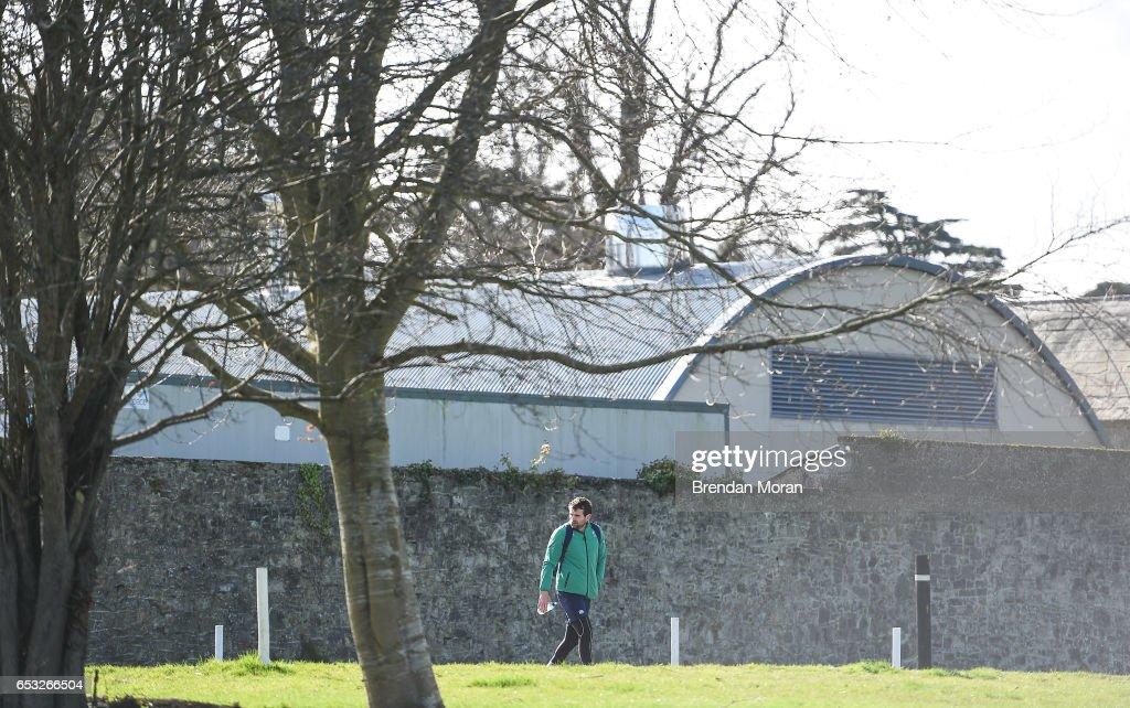 Kildare , Ireland - 14 March 2017; Jared Payne of Ireland arrives for squad training at Carton House in Maynooth, Co Kildare.
