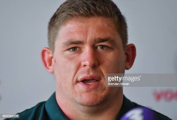 Kildare Ireland 14 March 2017 Tadhg Furlong of Ireland during a press conference at Carton House in Maynooth Co Kildare