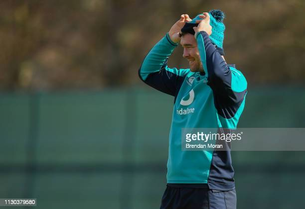 Kildare , Ireland - 14 March 2019; Peter O'Mahony during Ireland rugby squad training at Carton House in Maynooth, Kildare.