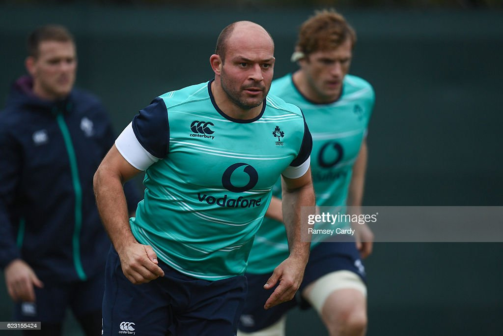 Ireland Rugby Press Conference & Squad Training : News Photo