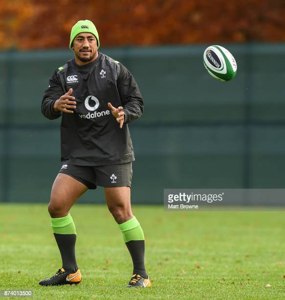 Kildare Ireland 14 November 2017 Bundee Aki during Ireland rugby squad training at Carton House in Maynooth Kildare
