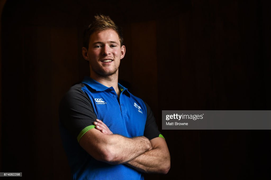 Kildare , Ireland - 14 November 2017; Kieran Marmion after an Ireland rugby squad press Conference at Carton House, in Maynooth, Kildare.