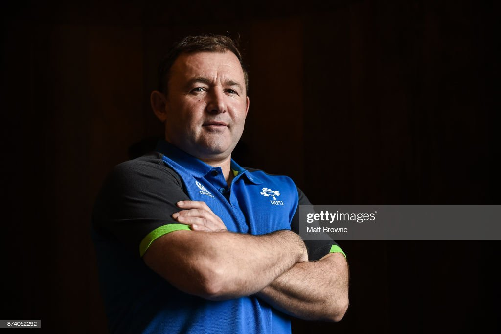 Kildare , Ireland - 14 November 2017; Richie Murphy Ireland skills and kicking coach after an Ireland rugby squad press Conference at Carton House, in Maynooth, Kildare.