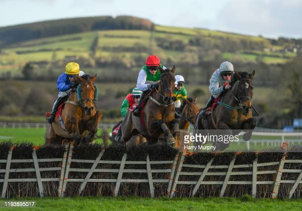 Kildare Ireland 15 January 2020 Rare Conor with Sean O'Keeffe up centre jumps the second last during the Ladbrokes 'Where The Nation Plays' Novice...