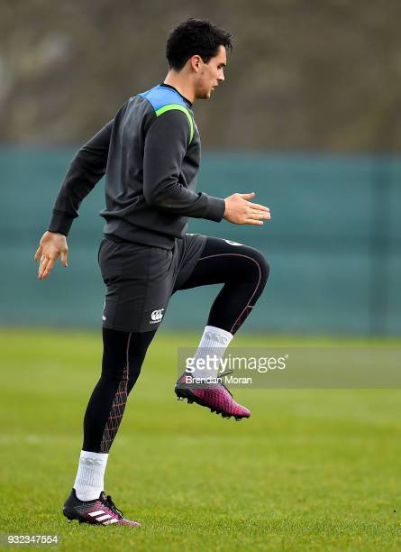 Kildare Ireland 15 March 2018 Joey Carbery during an Ireland rugby squad training at Carton House in Maynooth Co Kildare