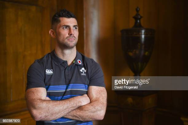 Kildare Ireland 15 March 2018 Rob Kearney poses for a portrait following an Ireland rugby press conference at Carton House in Maynooth Co Kildare