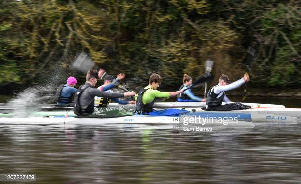 Kildare , Ireland - 15 March 2020; A general view during a Junior 'A' K1 Training session at Salmon Leap Canoe Club in Leixlip, Co Kildare.
