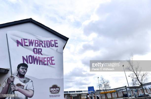 Kildare , Ireland - 15 March 2020; A general view of of the Newbridge or Nowhere mural outside St Conleth's Park in Newbridge, Kildare, at a time...