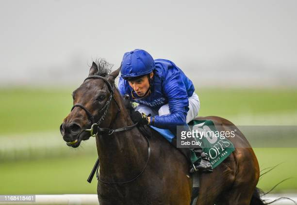 Kildare Ireland 15 September 2019 Pinatubo with William Buick up on their way to winning the Goffs Vincent O'Brien National Stakes during Day Two of...
