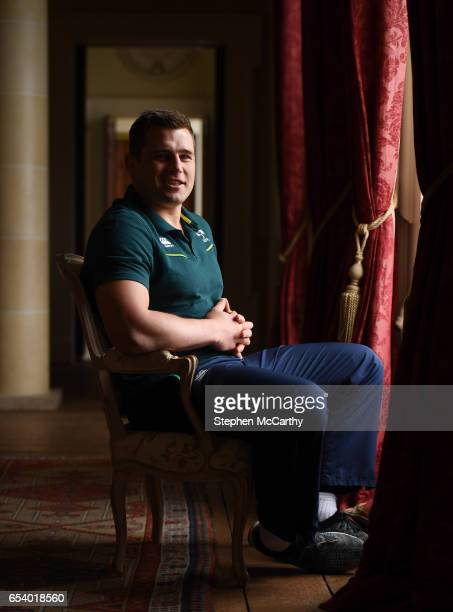 Kildare Ireland 16 March 2017 CJ Stander poses for a portrait following an Ireland rugby press conference at Carton House in Maynooth Co Kildare