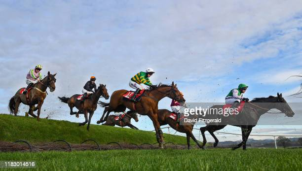 Kildare Ireland 17 November 2019 Yanworth with Mark Walsh up third from right clear rubys double on their way to winning the EMS Copiers Risk Of...