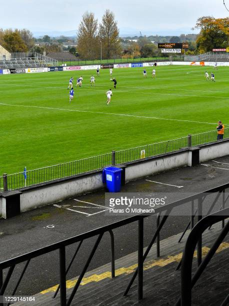Kildare , Ireland - 18 October 2020; Referee Cormac Reilly throws the ball to start the first half of the Allianz Football League Division 2 Round 6...