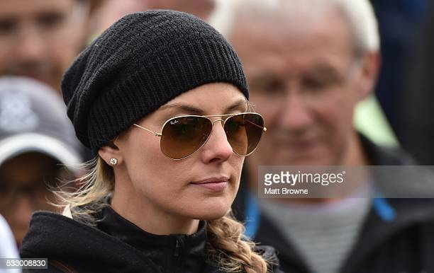 Kildare Ireland 20 May 2016 Erica Stoll the girlfriend of Rory McIlroy of Northern Ireland during day two of the Dubai Duty Free Irish Open Golf...