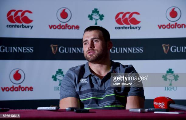 Kildare Ireland 20 November 2017 CJ Stander during an Ireland rugby press conference at Carton House in Maynooth Kildare