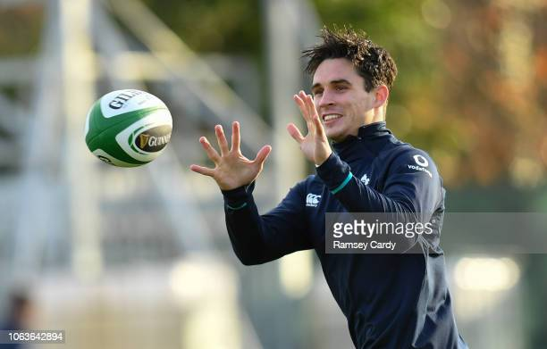 Kildare Ireland 20 November 2018 Joey Carbery during Ireland Rugby squad training at Carton House in Maynooth Co Kildare