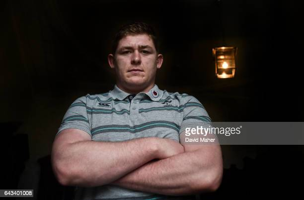 Kildare Ireland 21 February 2017 Tadhg Furlong of Ireland poses for a portrait after a press conference at Carton House in Maynooth Co Kildare