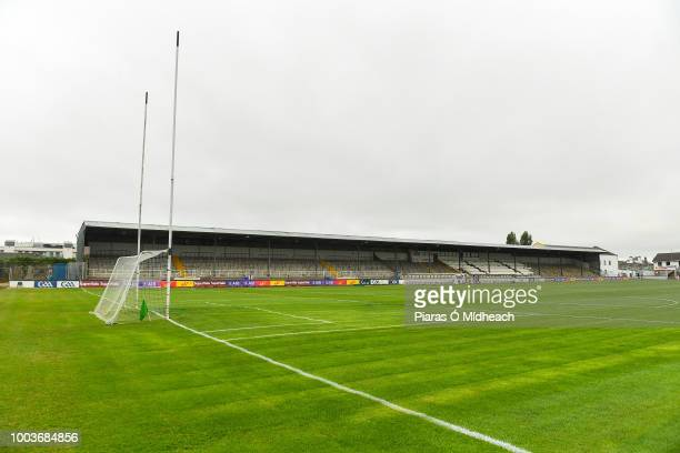 Kildare Ireland 22 July 2018 The ball gets past Galway goalkeeper Ruairí Lavelle before bouncing over the bar for a point for Daniel Flynn for...