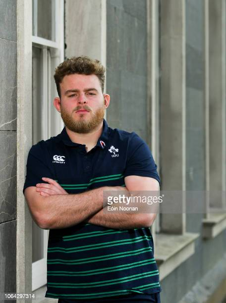 Kildare , Ireland - 22 November 2018; Finlay Bealham poses for a portrait following an Ireland rugby squad press conference at Carton House in...
