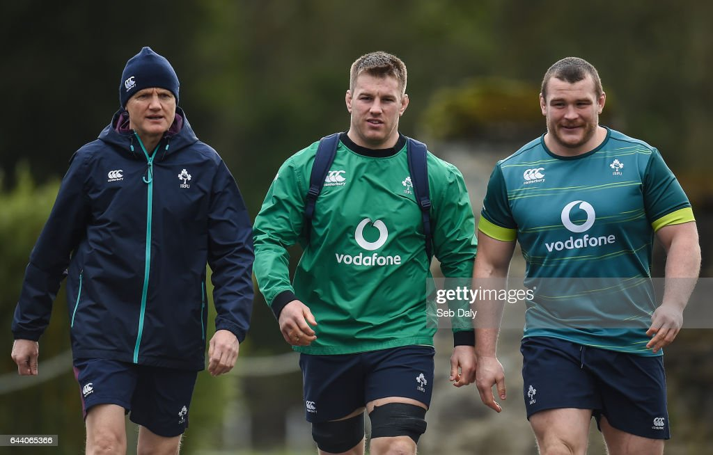 Ireland Rugby Squad Training and Press Conference : News Photo
