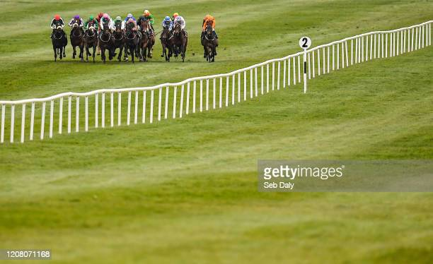 Kildare Ireland 23 March 2020 A view of the field during the Irish Stallion Farms EBF Maiden at Naas Racecourse in Naas Co Kildare