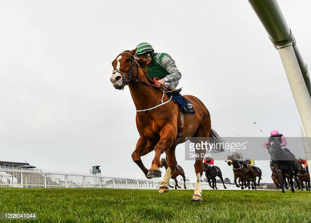 Kildare Ireland 23 March 2020 Fastar with Colin Keane up on their way to winning the Naas Racecourse Launches The 2020 Irish Flat Season Handicap at...